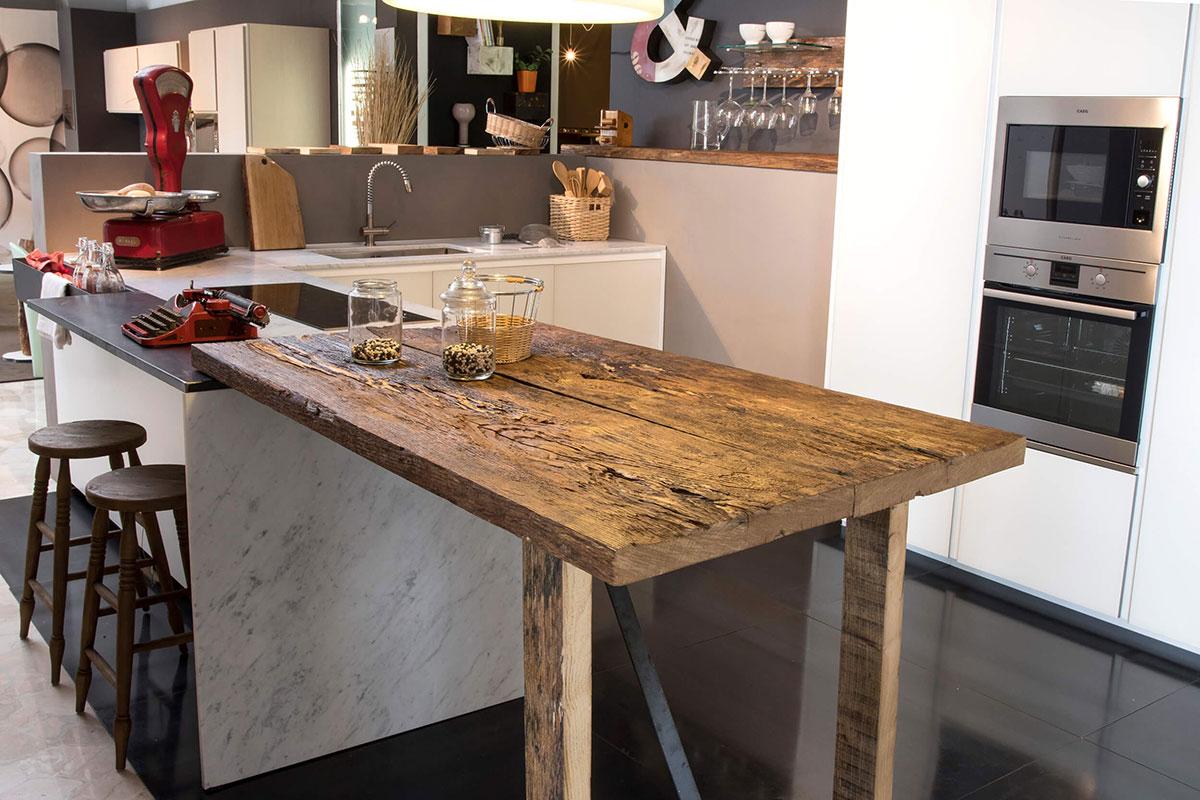 Piano sneack rovere finito grezzo bruno spreafico centro cucine spreafico - Cucine legno grezzo ...