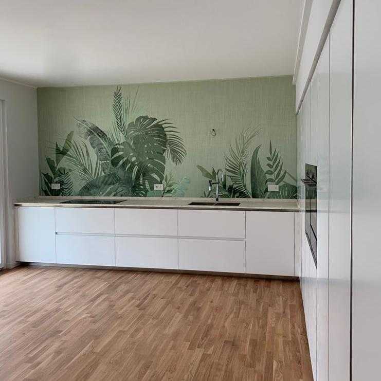 cucina a parete moderna